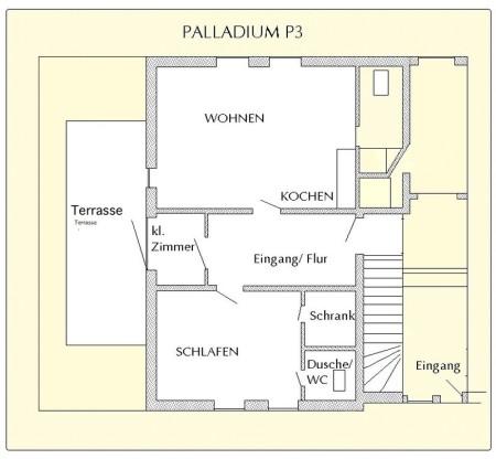 Pirl palladium wohnungen ausstattung for 55 qm wohnzimmer